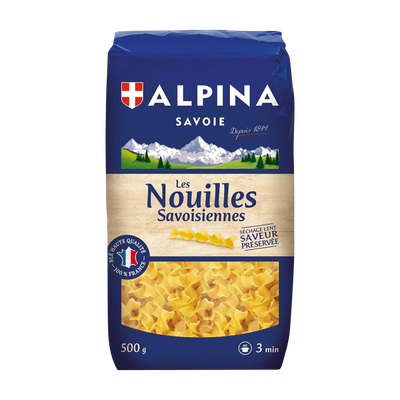 Nouilles Savoisiennes ALPINA SAVOIE, paquet de 500g