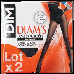 COLLANT DIAMS OPAQUE JAMBES FUSELEES DIM X2