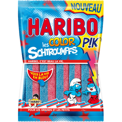 Bonbons gélifiés Color Schtroumpf Pik HARIBO, 180g