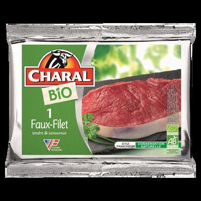 Viande bovine - Faux filet ***, à griller, BIO, CHARAL, France, 1 pièce