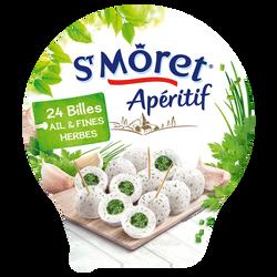 Billes de fromage ail et fines herbes SAINT MORET, 28%mg, 100g