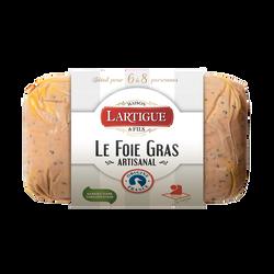 Foie gras de canard entier mi-cuit nature origine France, LARTIGUE ETFILS, 225g