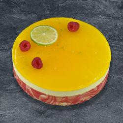Bavarois framboise citron décongelé, 6 parts, 600g