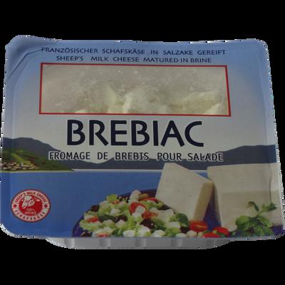Fromage de brebis pasteurisé pour salade BREBIAC, 27%mg, cubes de 150g