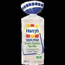 Harry's Pain Mie 100% Mie Sans Sucres Ajoutés , 500g