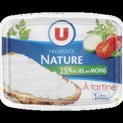 Fromage à tartiner nature à teneur réduite en sel 22% de MG U, 150g