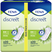 Tena Serviettes Pour Incontinence Discreet Mini Duo Pack Tena Lady 2x20