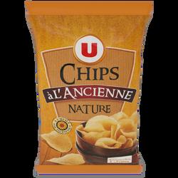 Chips à l'ancienne nature U, 150g