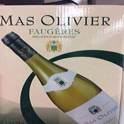 AOP FAUGERES BIB 3L MAS DES OLIVIERS. BLANC