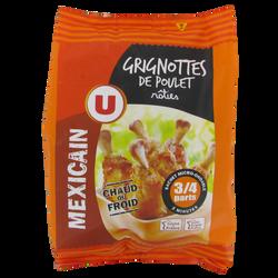 Grignotte de poulet rôtie goût mexicain, U, France, Sachet, 500g