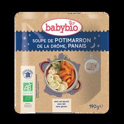 Assiette soupe potimarron de la Drôme Panais BABYBIO,dès 6 mois , 190g