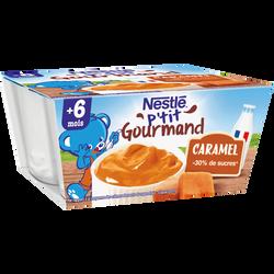 P'tit gourmand au caramel NESTLÉ, dès 6 mois, 4x100g