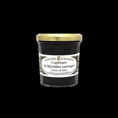 Confiture de myrtilles sauvages au miel RUCHERS DE BOURGOGNE, 375g