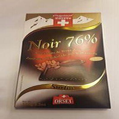 Chocolat Noir 76% avec éclats de fèves de cacao, ORSET