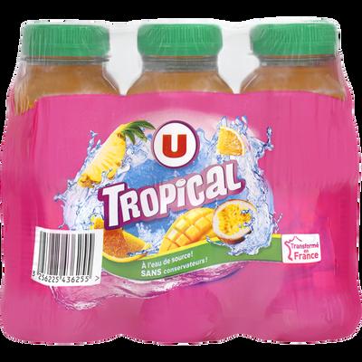 Boisson aux jus de fruits à base de concentrés, aromatisée tropical 6x25cl