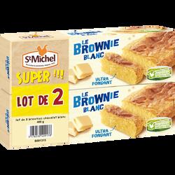 Brownie chocolat blanc ST MICHEL paquet 2x240g 480g