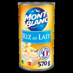 Riz au lait MONT BLANC, 570g