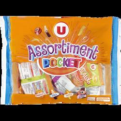 Assortiment de bonbons gélifiés acides U, sachet de 280g
