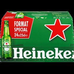 Bière blonde HEINEKEN , 5°, pack de 24x25cl