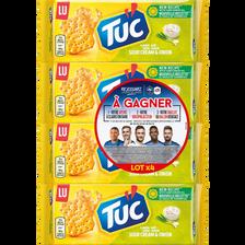 LU Tuc Crakers Crème Oignon Lu, 4 Paquets De 400g