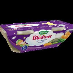 Bols pour bébé mijoté de légumes et lentilles BLEDINA, dès 12mois, 2x200g