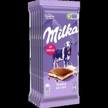 Milka Chocolat Tendre Au Lait Milka, 6x100g