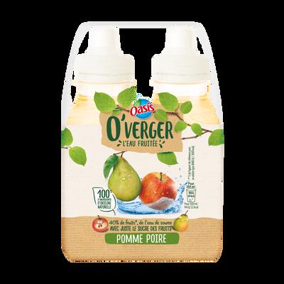 OASIS o'verger pomme poire, bouteille en plastique, 4x20cl