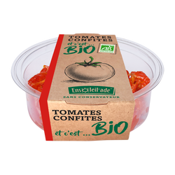 Tomates confites, BIO, barquette 120g