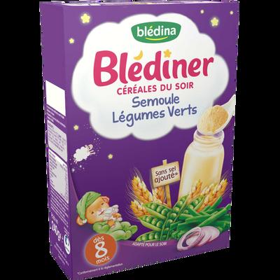 BLEDINER semoule et légumes verts, dès 8 mois, 240g