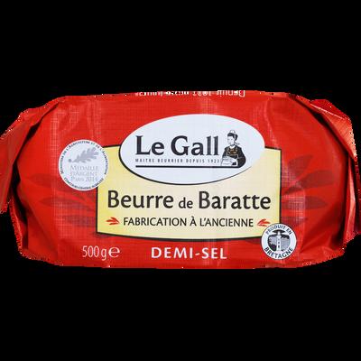 Beurre de baratte demi sel 80% de MG fabrication ancienne LE GALL, 500g
