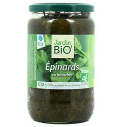 Epinards en branches Jardin Bio 630g