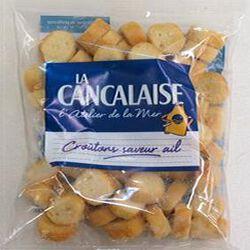 Croûtons saveur ail, LA CANCALAISE, 75g