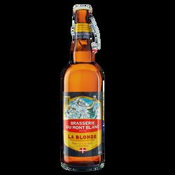 Bière la blonde MONT BLANC, 5,8°, 75cl