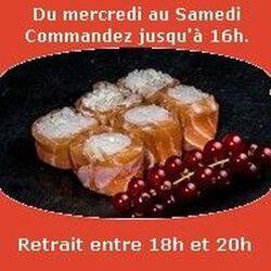Saumon rolls 6 pièces, Cheese ail et fines herbes, SUSHI MONT BLANC