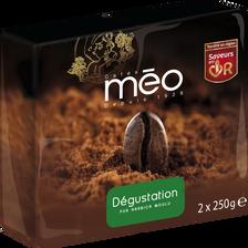Méo Café Dégustation Vert Moulu , 2 Paquets De 250g Soit 500g