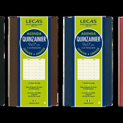 Quinzainier CLASSIQUE, 9x17cm, 1 semaine sur 1 page, 64 pages, colorisassortis