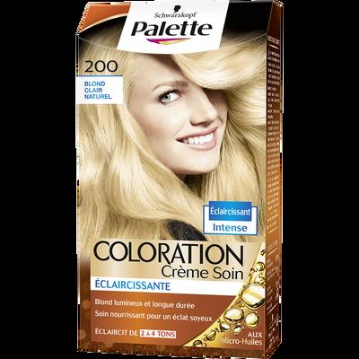 Coloration permanente PALETTE, blond clair naturel n°200