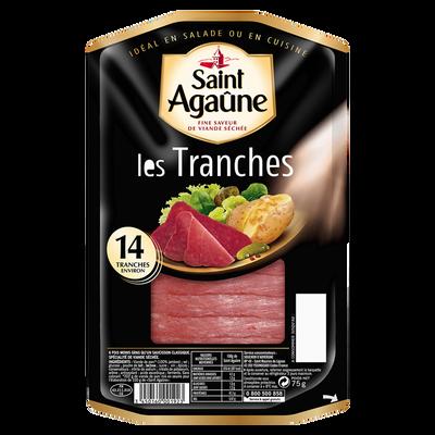 Saucisson délice de Saint Agaûne en grandes tranches BORDEAU CHESNEL,75g