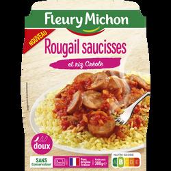Rougail saucisses fumées et riz créole FLEURY MICHON 300g