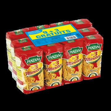 Panzani Pâtes Penne Rigate Cuisson Rapide Panzani 9x500g + 3 Offerts