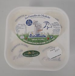 Faisselle de chèvre frais, Areilladou 4X100G