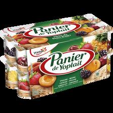 Yaourt sucré aux fruits panachés PANIER DE YOPLAIT, 16x125g