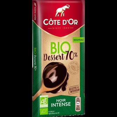 Chocolat dessert noir 70% de cacao Bio CÔTE D'OR 150g