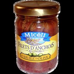 Filet d'anchois allongés à l'huile d'olive MICELI, 150g