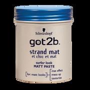 Schwarzkopf Pâte Coiffante Matifiante Et Chic Et Mat Got2b, Pot De 100ml