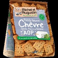 Petits beurres salés chèvre Ste Maure de Touraine et Sarriette AOP MICHEL & AUGUSTIN, 100g