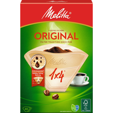 Filtres à café brun n°1x4 MELITTA, 40 unités
