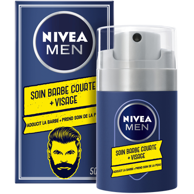Soin barbe courte + visage NIVEA men, 50ml