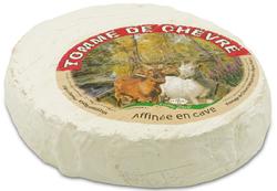 TOMME CHEVRE CROUTE FLEURIE, au lait de chèvre pasteurisé, 24%MG