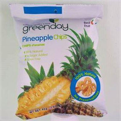 Chips d'ananas GREENDAY,40g